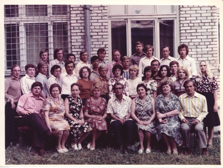 Силламяэская средняя школа рабочей молодежи. Начало 80-х гг.